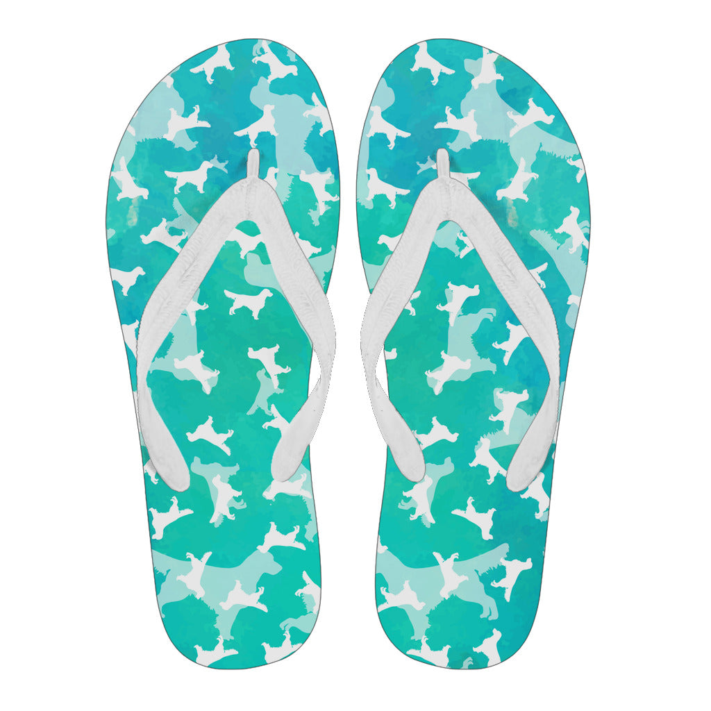Golden Aqua Women's Flip Flops