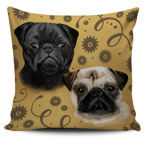 Pug Breed Pillow Cover