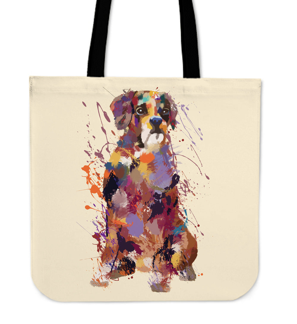 Boxer Portrait Tote Bag