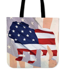Patriotic Bulldog Tote Bag