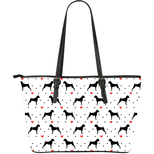 Boxer Love Large Leather Tote