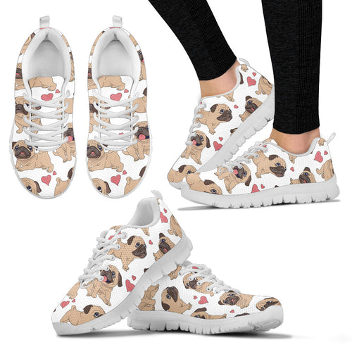 Pug Hearts Women's Sneakers