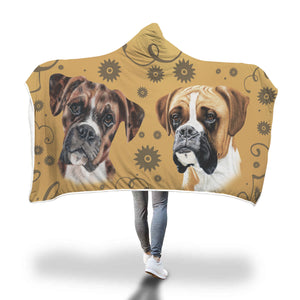 Boxer Breed Hooded Blanket