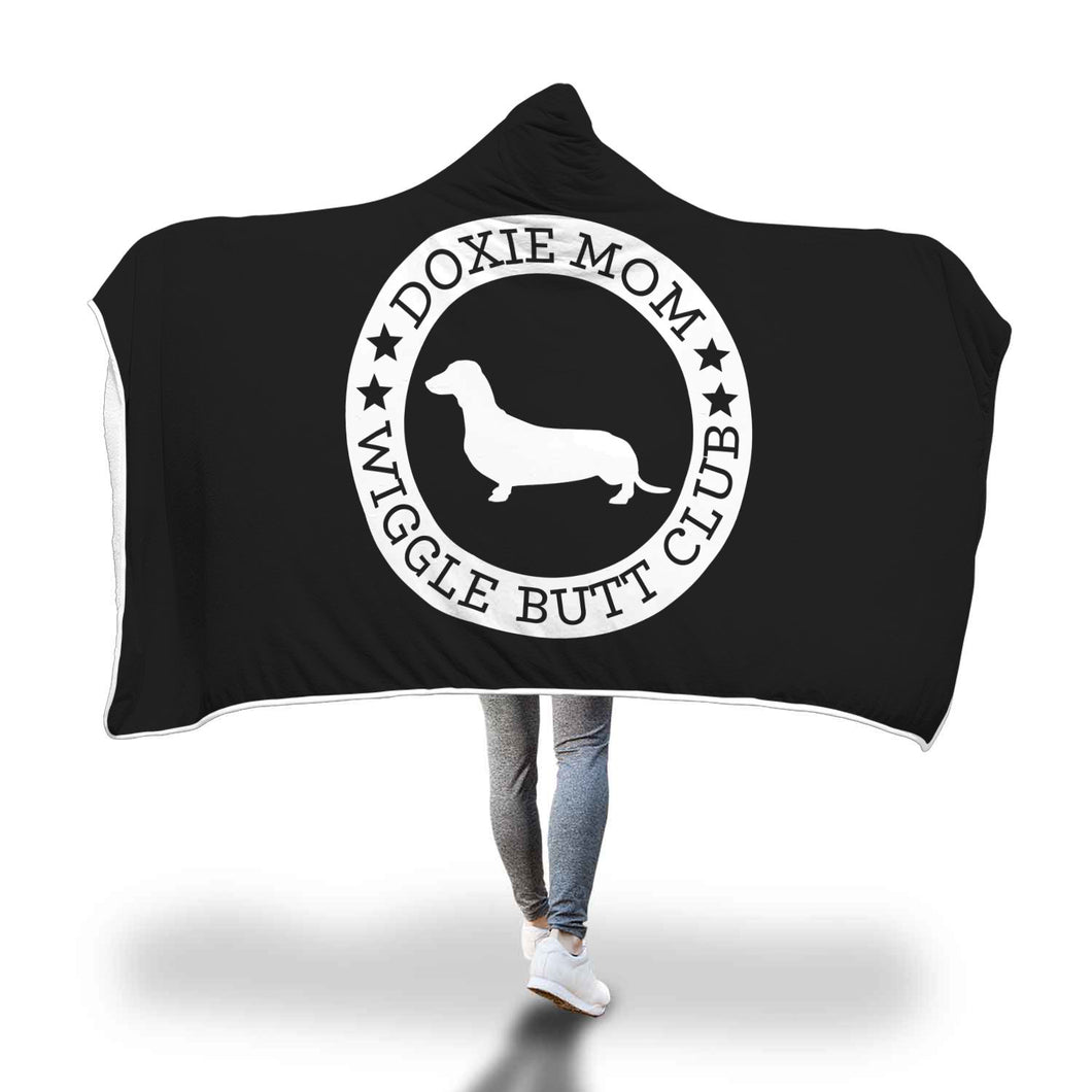 Doxie Mom Hooded Blanket