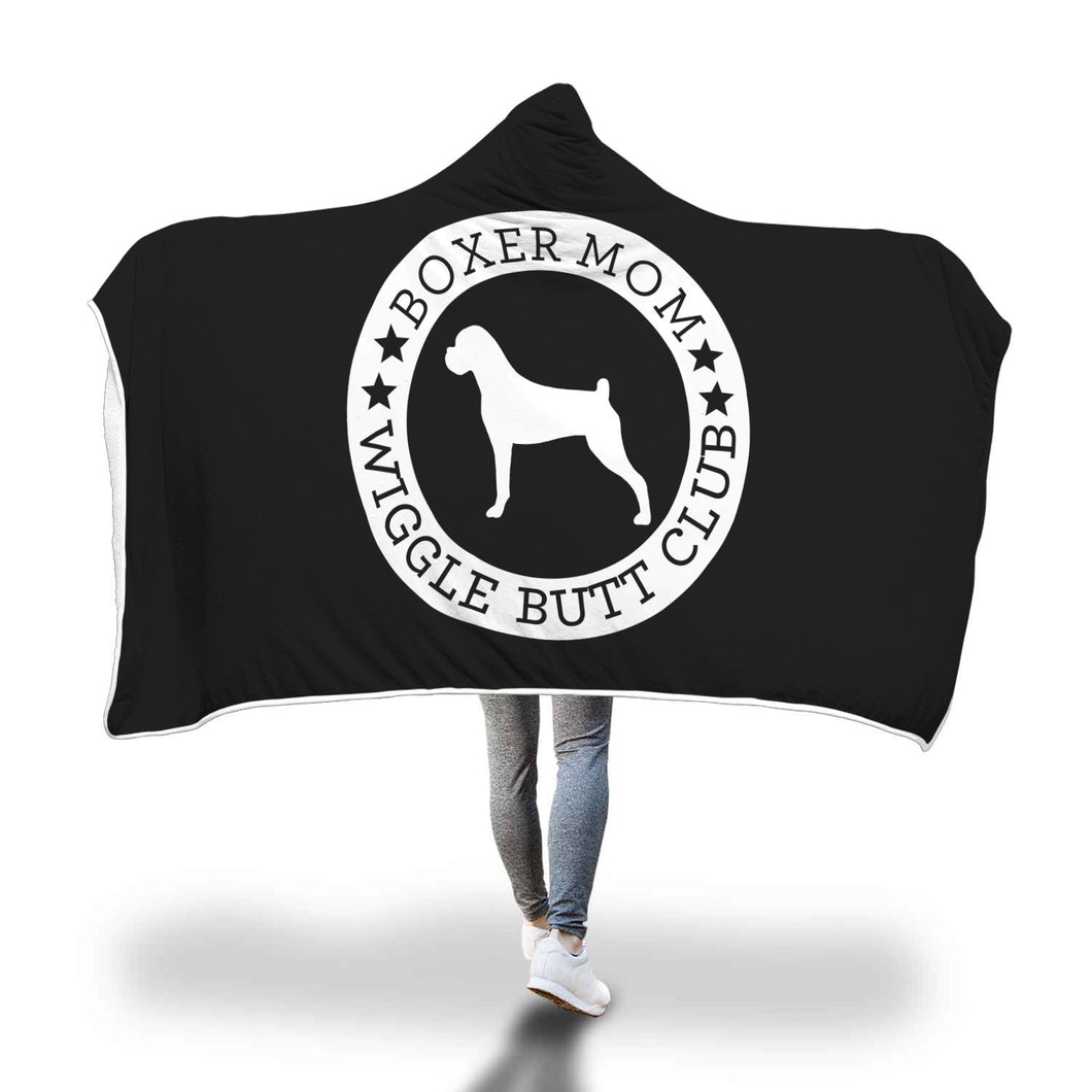 Boxer Mom Hooded Blanket