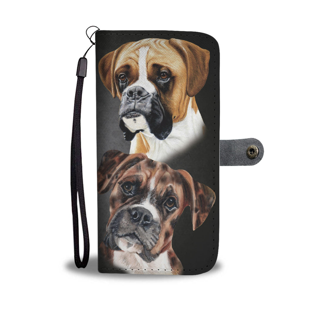Boxer Breed Wallet Phone Case (BLACK)