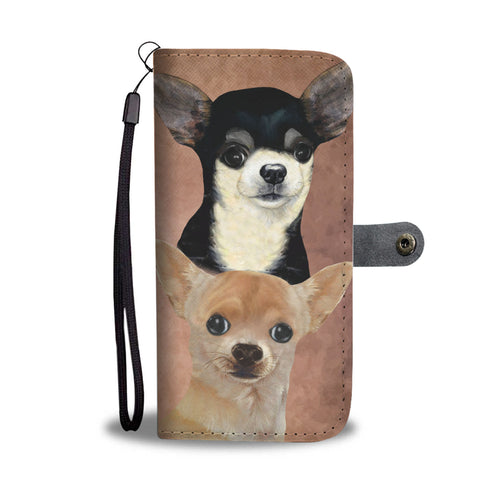 Chihuahua Breed Wallet Phone Case (BROWN)