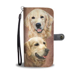 Golden Breed Wallet Phone Case (BROWN)