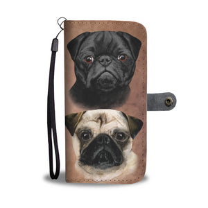 Pug Breed Wallet Phone Case (BROWN)