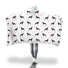 Boxer Love Hooded Blanket