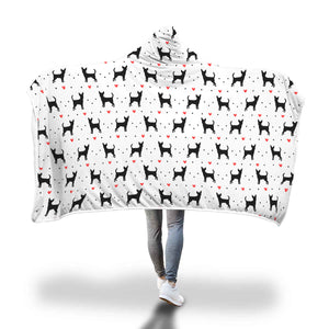 Chihuahua Love Hooded Blanket