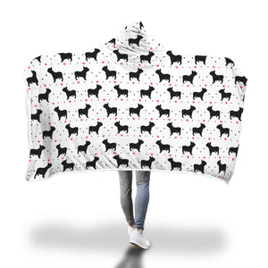 French Bulldog Love Hooded Blanket