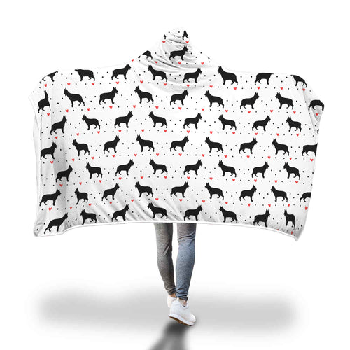 German Shepherd Love Hooded Blanket
