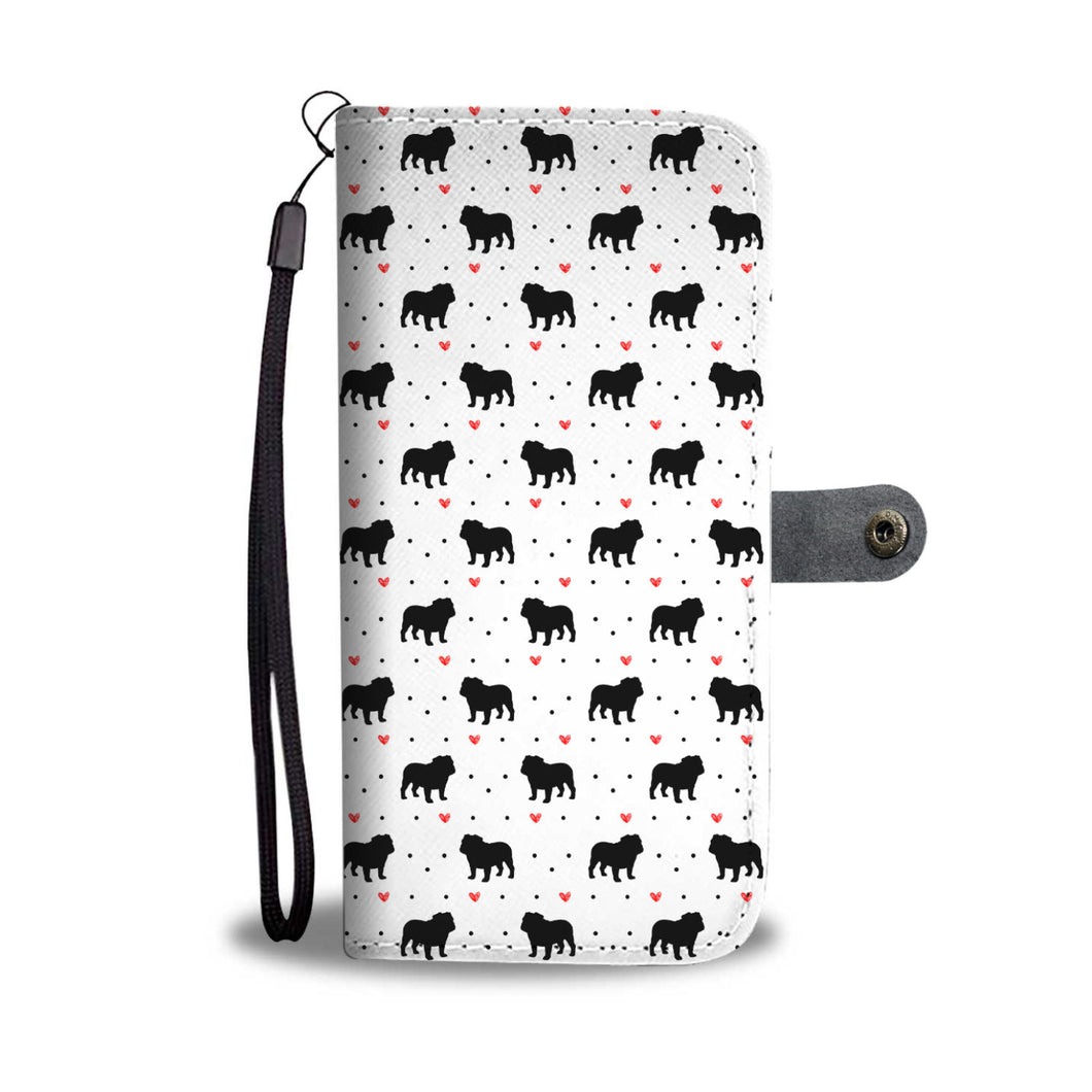 Bulldog Love Wallet Phone Case