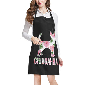 Chihuahua Floral Apron