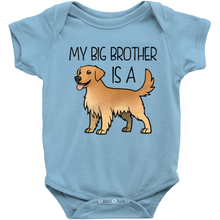 My Big Brother is a Golden Retriever Infant Onesie