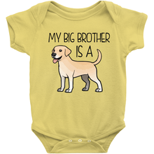 My Big Brother is a Lab (Yellow) Infant Onesie