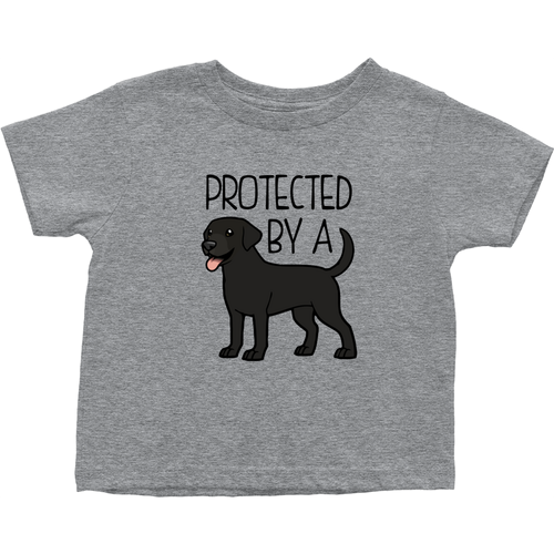 Protected by a Lab (Black) Toddler T-Shirt