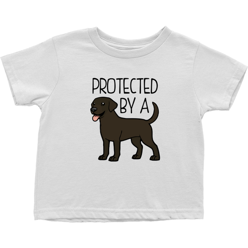 Protected By a Lab (Chocolate) Toddler T-shirt