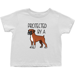 Protected By a Boxer (Fawn) Toddler T-shirt