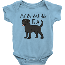 My Big Brother is a Labrador (Black) Infant Onesie