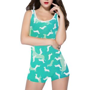 Dachshund Aqua Classic One Piece Swimsuit