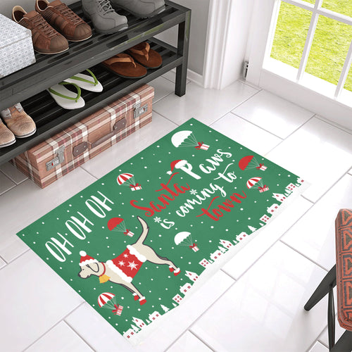 Lab Santa Paws Doormat
