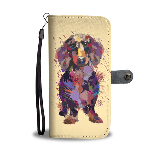 Dachshund Portrait Wallet Phone Case
