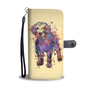 Golden Retriever Puppy Portrait Wallet Phone Case