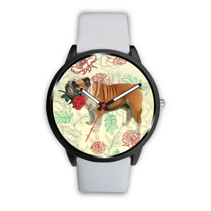English Bulldog Rose Watch