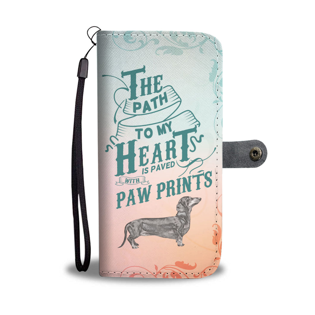 Path to My Heart (Dachshund) Wallet Phone Case