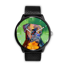 Boxer Face Portrait Watch