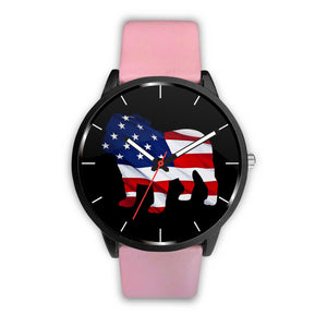 Patriotic Bulldog Watch
