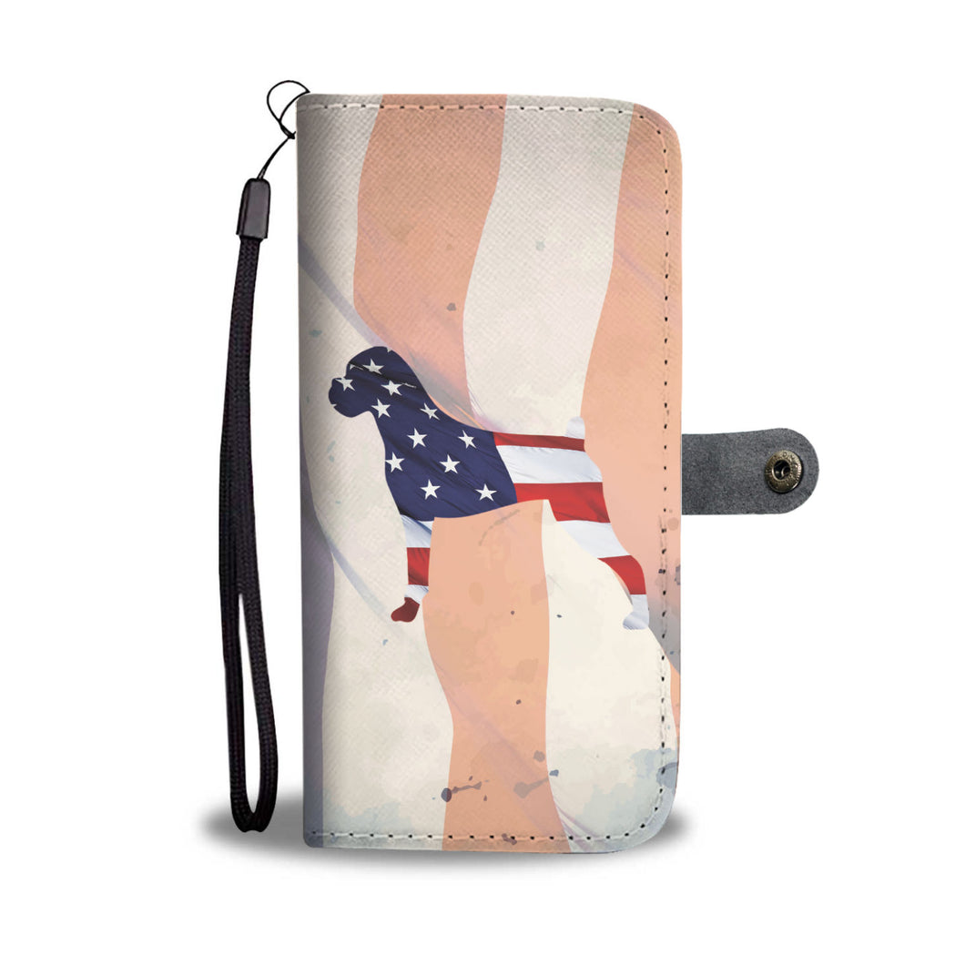 Patriotic Boxer Wallet Phone Case