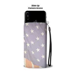 Patriotic Dachshund Wallet Phone Case