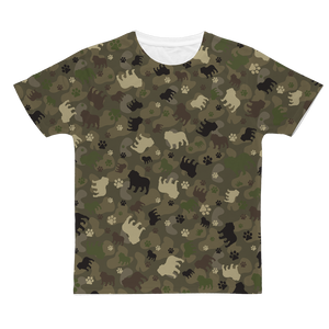 Bulldog Camo All Over Print Unisex T-Shirt