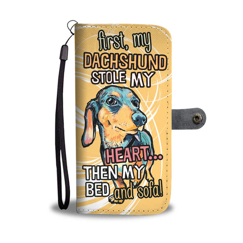 My Dachshund Stole My Heart Wallet Phone Case