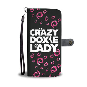 Crazy Doxie Lady Wallet Phone Case