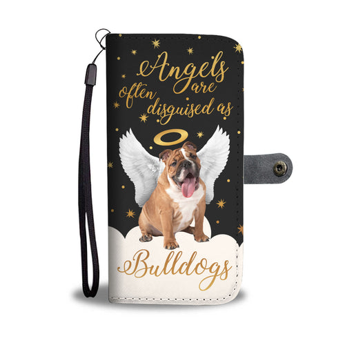 Angels Disguised As Bulldogs Wallet Phone Case
