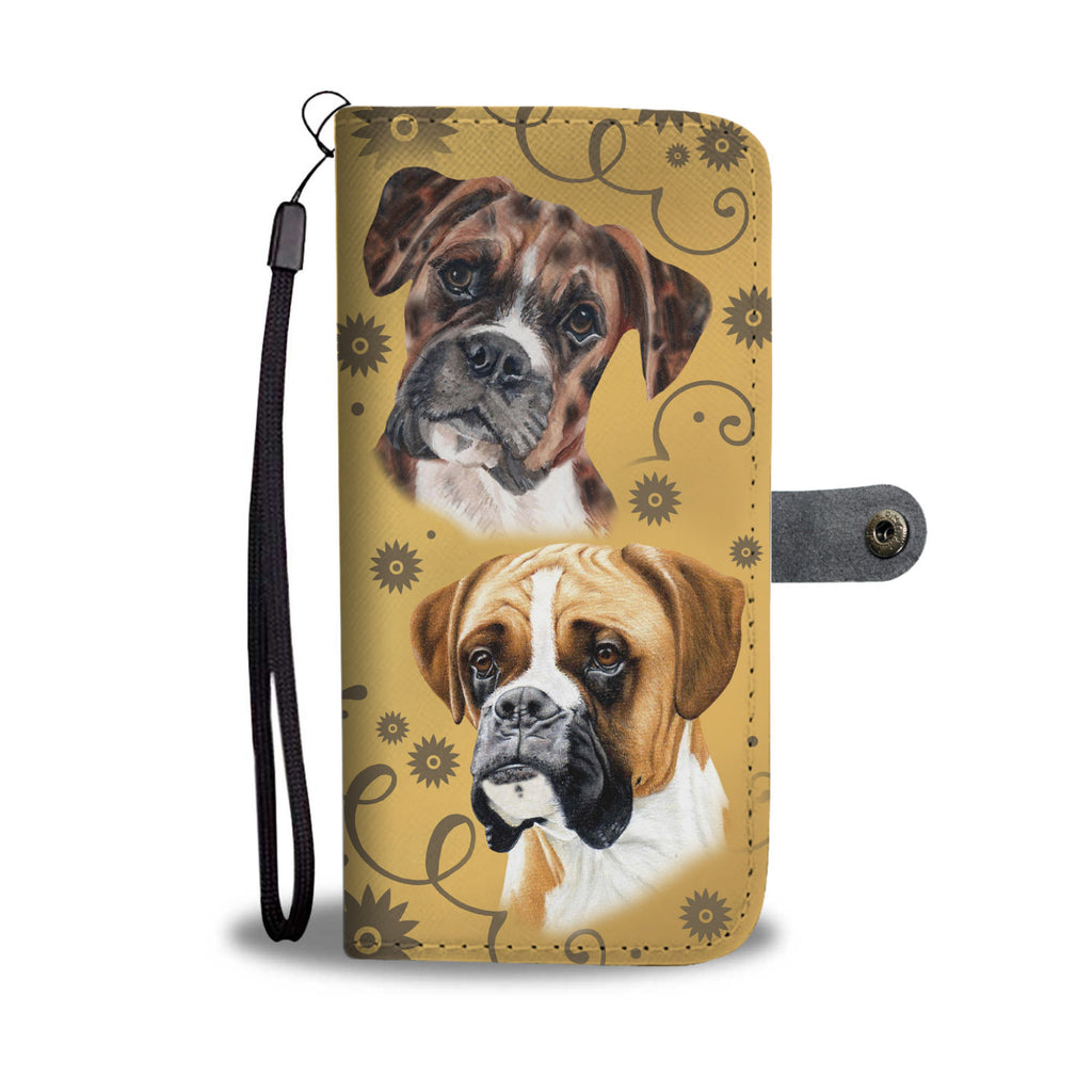 Boxer Breed Wallet Phone Case Wiggle Decor