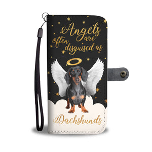 Angels Disguised As Dachshunds Wallet Phone Case