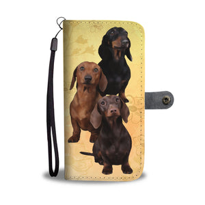 Dachshund Pack Wallet Phone Case