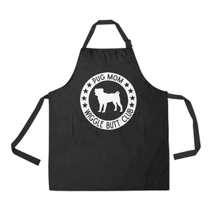 Pug Mom Wiggle Butt Club Apron