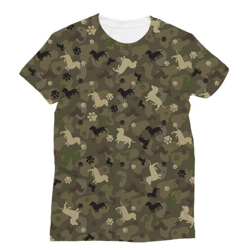 Dachshund Camo All Over Print Women's T-Shirt