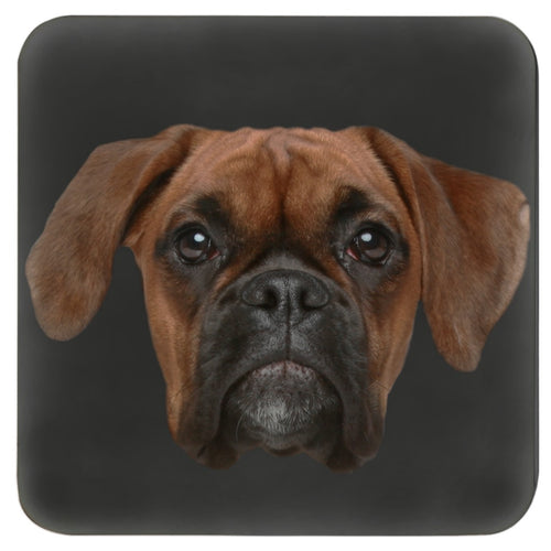 Boxer Face Cork Coasters