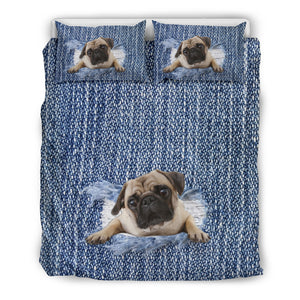 Pug Break The Wall Bedding Set