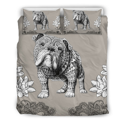 Bulldog Mandala Bedding Set