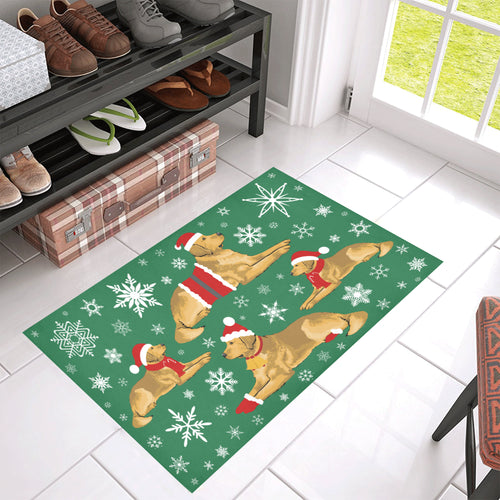 Golden Xmas Doormat