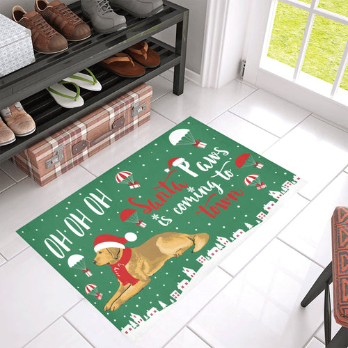 Golden Santa Paws Doormat