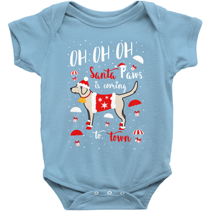 Lab Santa Paws Infant Onesie